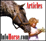 Horse Articles, Tenika with Rambo, American Bashkir Curly.