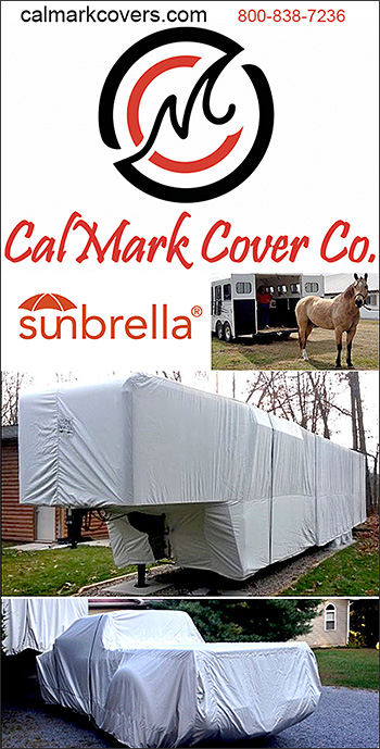 Horse trailer and horse truck covers by Cal Mark Cover Company
