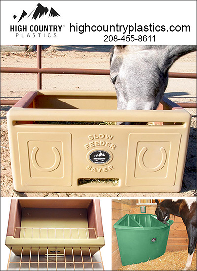 High Country Plastics Feeders for Horses