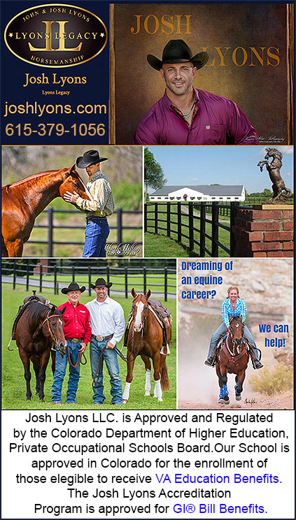 Josh Lyons Horse Training Certification Program