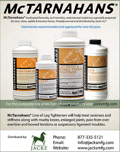 McTarnahans Medicated Formulas for Horse Health.