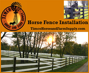 Timco Horse and Farm Supply, Horse Fence Installation