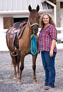 Ann and Sugar at Showcase Performance Horse Stables