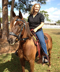 Ann and her Morgan Mare Sugar