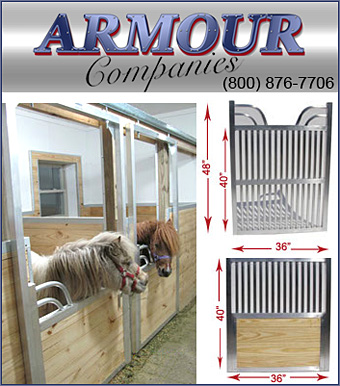 Armour Companies make Miniature Horse Stalls!