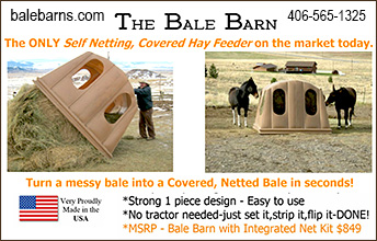 The Bale Barn Covered Hay Feeder