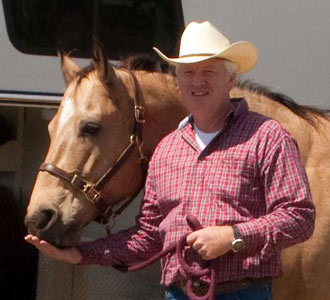 Bob Pruitt and his horse Dream