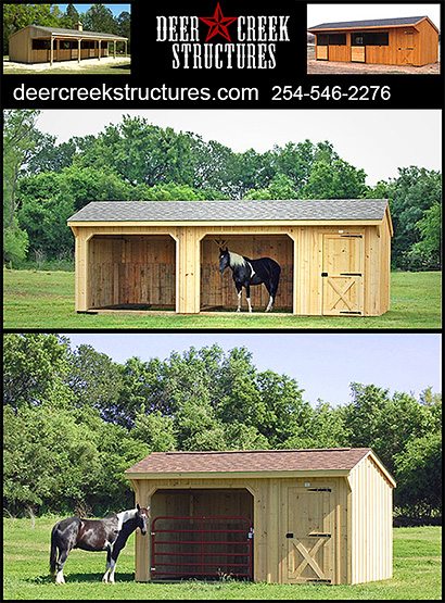 Horse Shelters by Deer Creek Structures