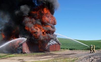 Barn on Fire.