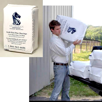 Good packaging of horse bedding.