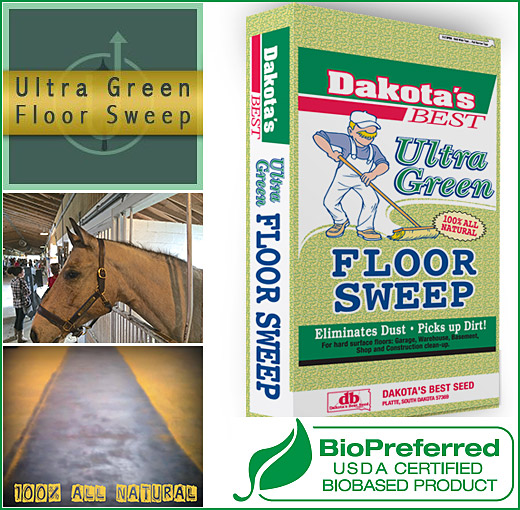 Ultra Green Floor Sweep Is The All Natural Sweeping Compound That Cleans As  You Sweep!
