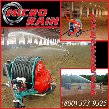 Micro Rain for Arena Dust Control!