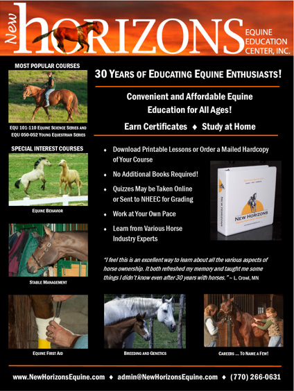 New Horizons Equine Education Center,Inc.