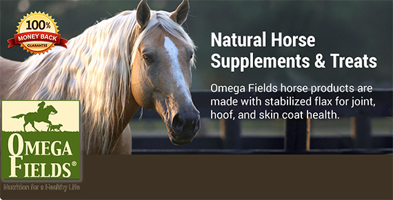 Omega Fields Natural Supplements and Treats for Horses!