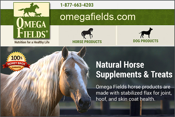 Omega Fields Natural Horse Supplements
