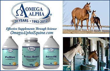 Omega Alpha sponsors Horse Hormone Supplements