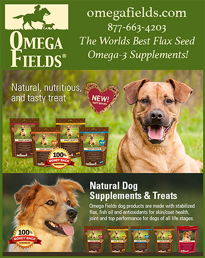 Omega Fields Flax Seed Omega-3 Dog Treats!