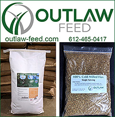 Outlaw Feed Flax Supplements for Horses.