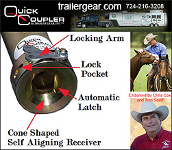Quick Coupler Horse Trailer Hitch
