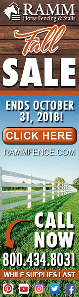 Ramm Horse Fencing and Stalls October Sale!