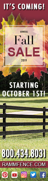 Ramm Horse Fencing and Stalls FALL SALE Coming soon!