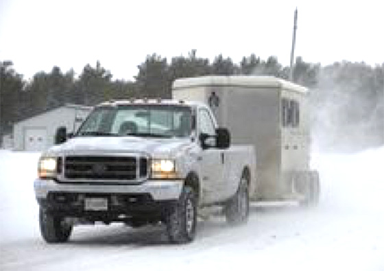 Transporting horses in  Winter conditions!