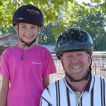 Raye Lochert horse safety with Riding Helmets