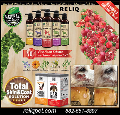 RELIQ Dog Shampoos and Ear Health Products