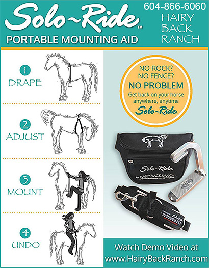 Solo Ride Portable Horse Mounting Aid