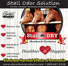 Stall Dry Absorbant Deodorizer for Horse Stalls and Trailers!