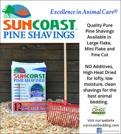 SUNCOAST Pine Shavings Horse Bedding