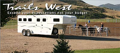 Trails West Horse Trailer
