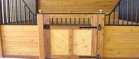 Affordable and still beautiful horse stalls!